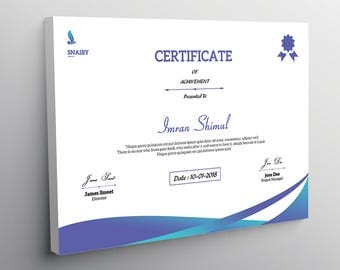 Certificate Template | corporate business certificate , Photoshop Template | Instant Download