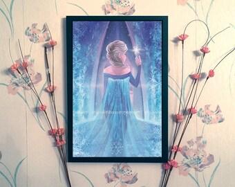 Elsa Fan Art Print