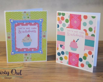 Let's Eat Cake Birthday Cards (Set of 2)