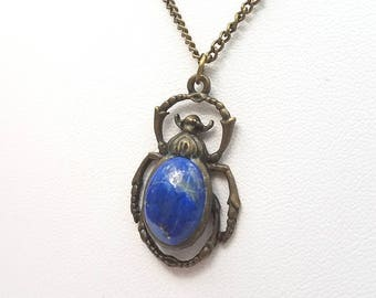 Lapis Scarab Necklace
