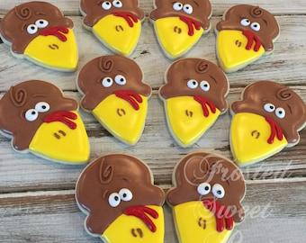 2 dozen Turkey Thanksgiving cookies