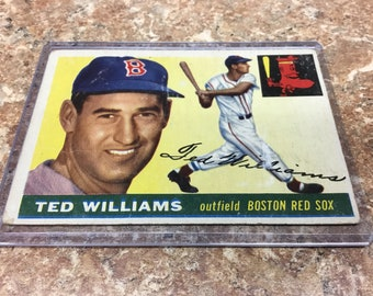 1955 Topps Ted Williams Red Sox playing card