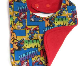 Superman Comics Baby bib