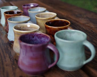 Coffee Lover's Mugs- Set of 4-Handmade Tableware