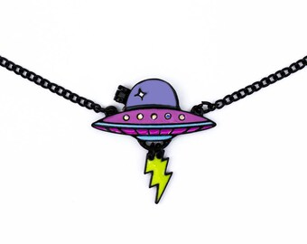 Necklace // UFO // Alien