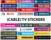 Cable TV Stickers Seasons 2017-2018 Schedule - TV Shows Sticker Planner