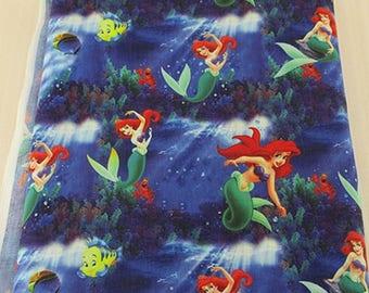 "Tissu Coton imprimé thème "" Ariel  - La petite sirene /mermaid """