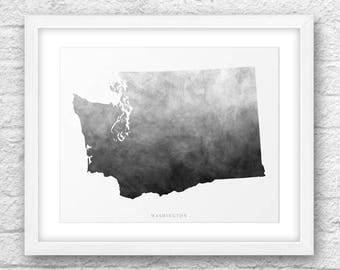Washington Map, Washington Print, Washington Art, Washington State, Minimalist Art , Washington Printable, Instant Download, Washington 8x10