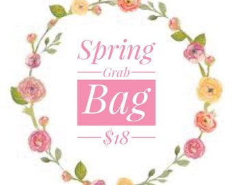 Spring Hair Bow Grab Bag, Mystery Grab Bag, Mystery Bow, Spring Glitter Bow, Spring Leather Bow, Pastel Bow, Easter Bow