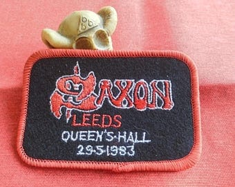 saxon , leeds queen 's - hall 1983-29-5  , Limited edition patch, embroidered on velvet. Only 250 copies.