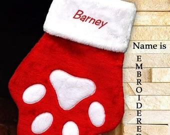 paw stocking pet christmas stocking personalized dog stocking christmas stocking personalized dog