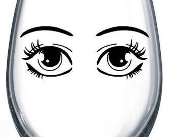 anime eye decal-gift decal-vinyl decal-make up-free shipping