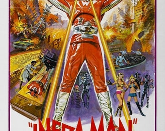 Back to School Sale: The Super Inframan Movie POSTER (1975) Sci-Fi/Action
