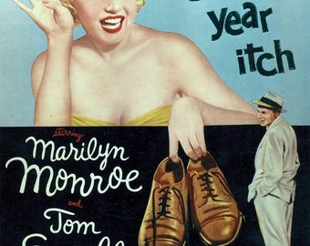Back to School Sale: The Seven Year Itch Movie POSTER (1955) Romance/Comedy Marilyn Monroe