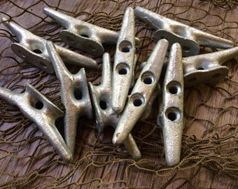 Boat Cleats - Dock Cleat - 4 Inch Cleats - Galvanized Cleat - Boat Cleat Hook - Drawer Pulls Wall Hooks - Beach Towel Hook - Nautical Decor