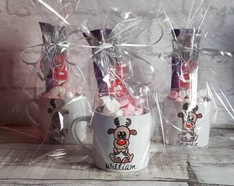 Personalised Christmas Eve Mugs - Childrens Hot Chocolate Mug Gift Set