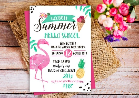 Back to school party invitation End of Summer Party – End of Summer Party Invitations
