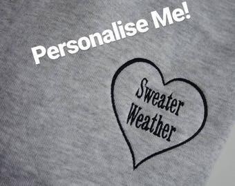 Personalised Heart Sweatshirt