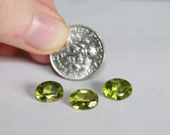 Peridots light green