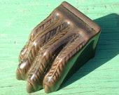 "Ceramic Claw Foot ""Antique Brown"""