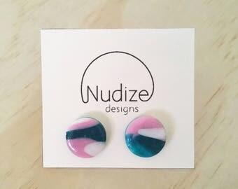 "Handmade statement stud earrings // gifts for her // ""Haze"""
