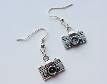 Camera | Photographer | Photo | Retro | Cute | Earrings