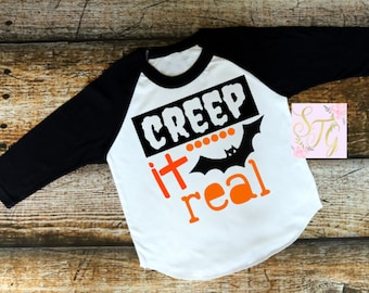 Creep it real, Halloween shirt for boys, Boys Halloween shirt, Halloween shirt, boys shirt, toddler shirt, Pumpkin patch shirt