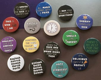 Once Upon A Time inspired badges & magnets (38mm)