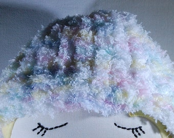 Doll hat, knitted doll hat, baby doll hat, fuzzy doll hat