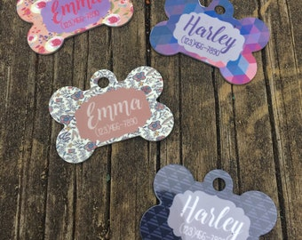 Pet ID Tag Dog ID Tag Pet Tag Personalized Dog Tag Custom Pet ID Custom Dog Tag Tag for Dog Collar Dog Tag for Dogs Dog Name Tag Pet Name