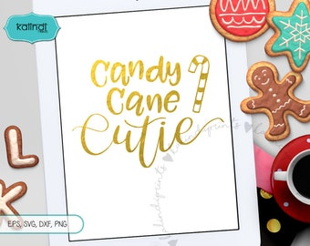 Candy cane cutie svg, candy cane svg, winter svg, svg file, cutie svg, merry christmas svg, svg cutting files, candy cane clipart    cr91