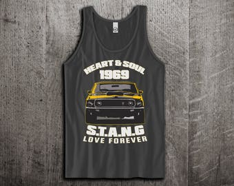 Classic Ford Mustang Tank Top, Ford t shirts, Mustang shirt, cars tanks, Muscle car shirts, Ford Mustang GT Unisex Tank top by Motomotiveink