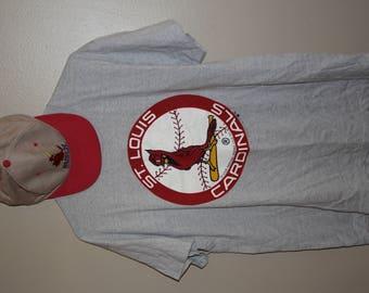 80's vintage St.Louis Cardinals baseball graphic t-shirt