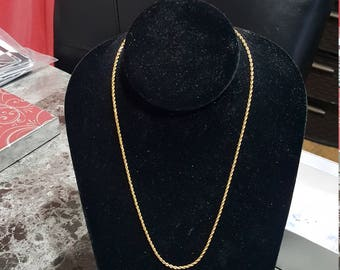 """Estate 14K Silid Gold 18"""" Chain Necklace"""