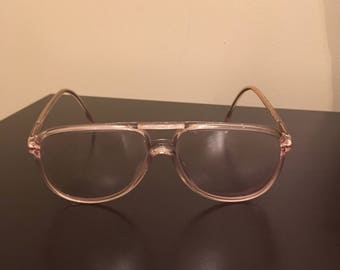 Vintage Womens Clear Plastic Luxottica Eyeglasses Frames