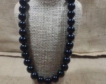 DA Designs black onyx necklace