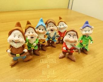 The Seven Dwarfs of Snow White, the Seven Dwarfs Cake topper, the Seven Dwarves, Seven Dwarfs cake patches, seven dwarfs figurines, seven dwarfs