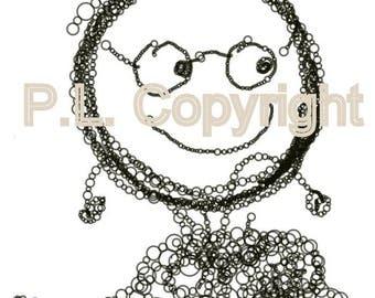Picture Digital Download..Bubble Tike Printable Graphic Art JPG
