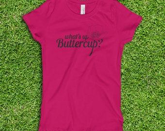 What's up Buttercup? girls' princess t-shirt (black print)