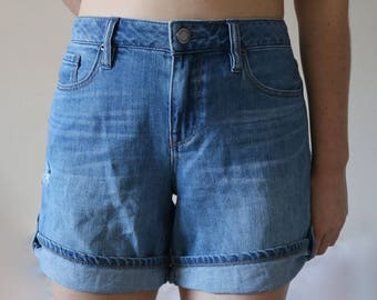 90s High Waisted Denim Shorts JEANS WEST