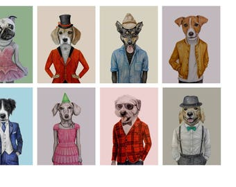 Funny Dog Greeting Cards for birthdays and thank you notes