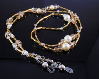 Glasses chain, Spectacle holder, crystal lanyard
