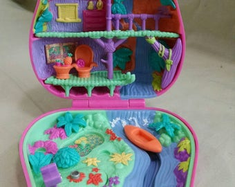 Polly Pocket Pink Jungle Adventure Compact