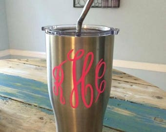 Monogram decal/ vinyl decal/ decals/car decal/yeti decal/ tumbler/laptop decal/vinyl/vinyl stickers/custom vinyl decal/custom initials