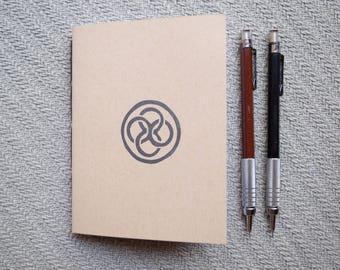 Small celtic knot circle dara notebook kraft journal