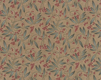Moda TOWN SQUARE Quilt Fabric 1/2 Yard By Holly Taylor - Khaki 6633 13