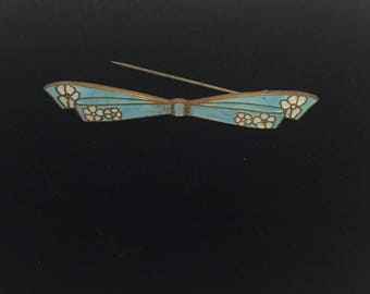Lovely Early Guilloche Bow Pin