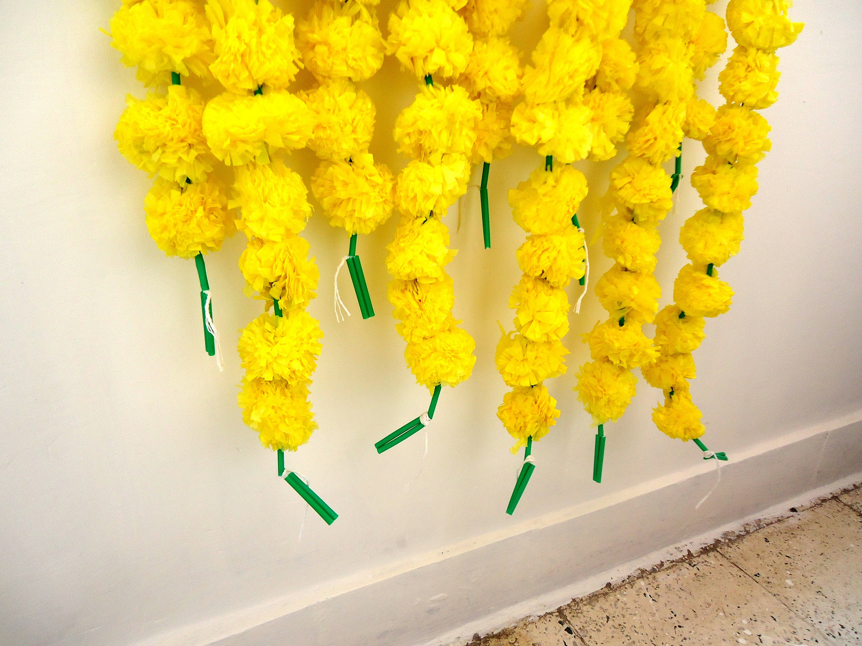Yellow Marigold Flowers String Artificial Marigold