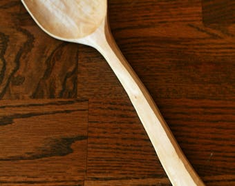 Carved Cooking Spoon, Plum Wood