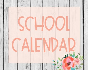 ADD ON- District/School Calendar {Yours}